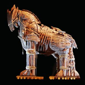 The Trojan Horse in the town of Canakkale Turkey